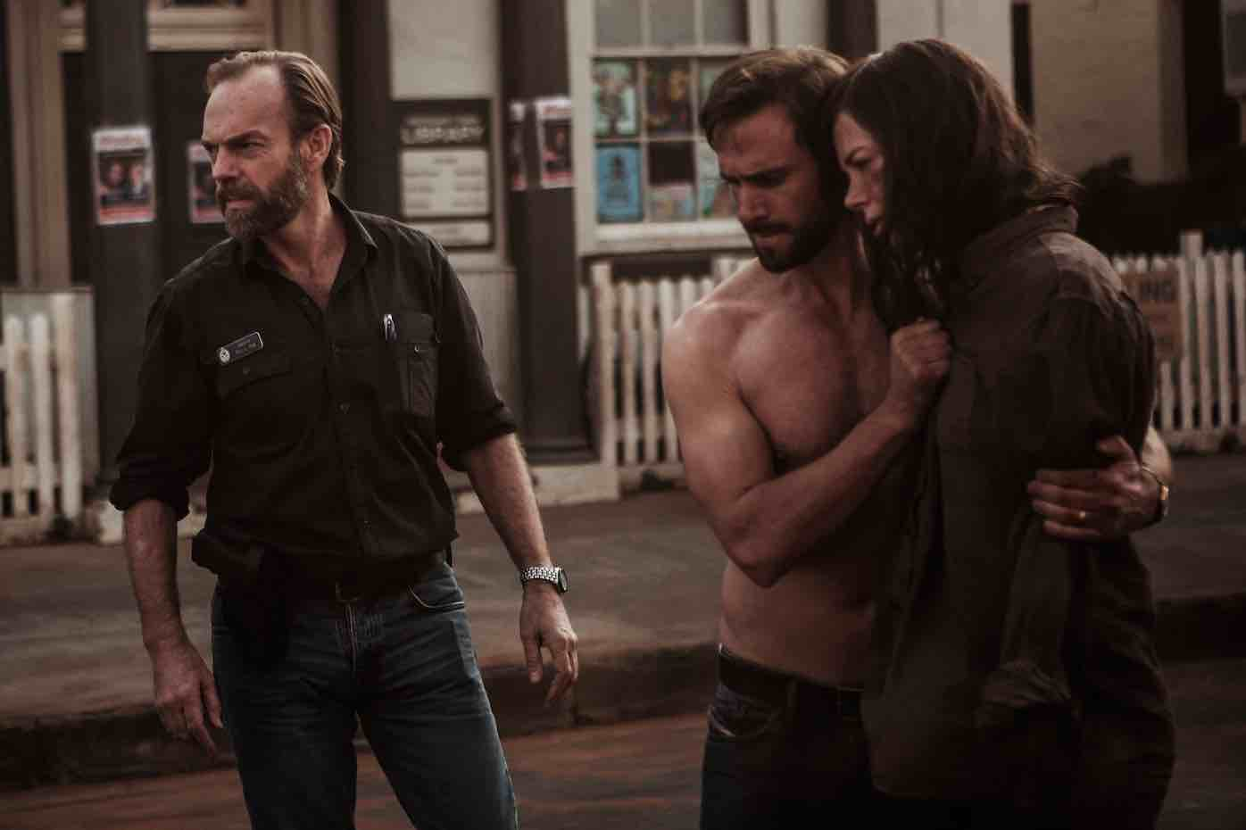 From left: Hugo Weaving, Nicole Kidman and Joseph Fiennes in Strangerland