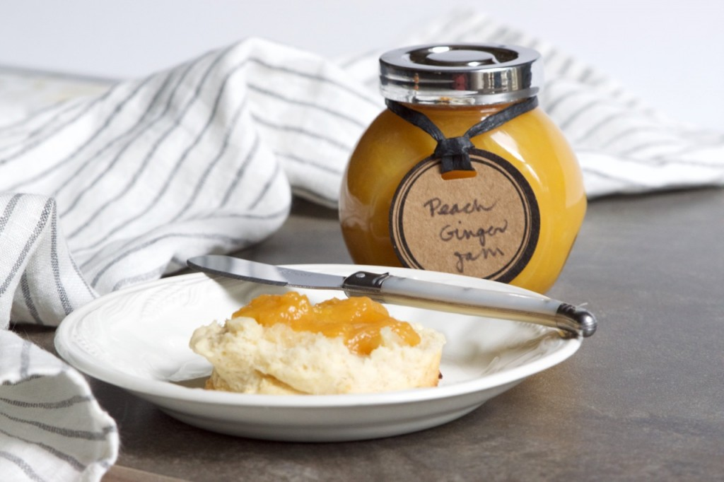 Peach Jam and Cream Biscuits