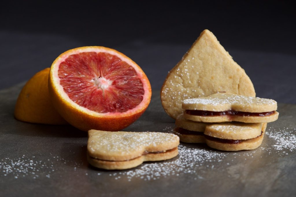 Whole Wheat Orange Shortbread Hearts