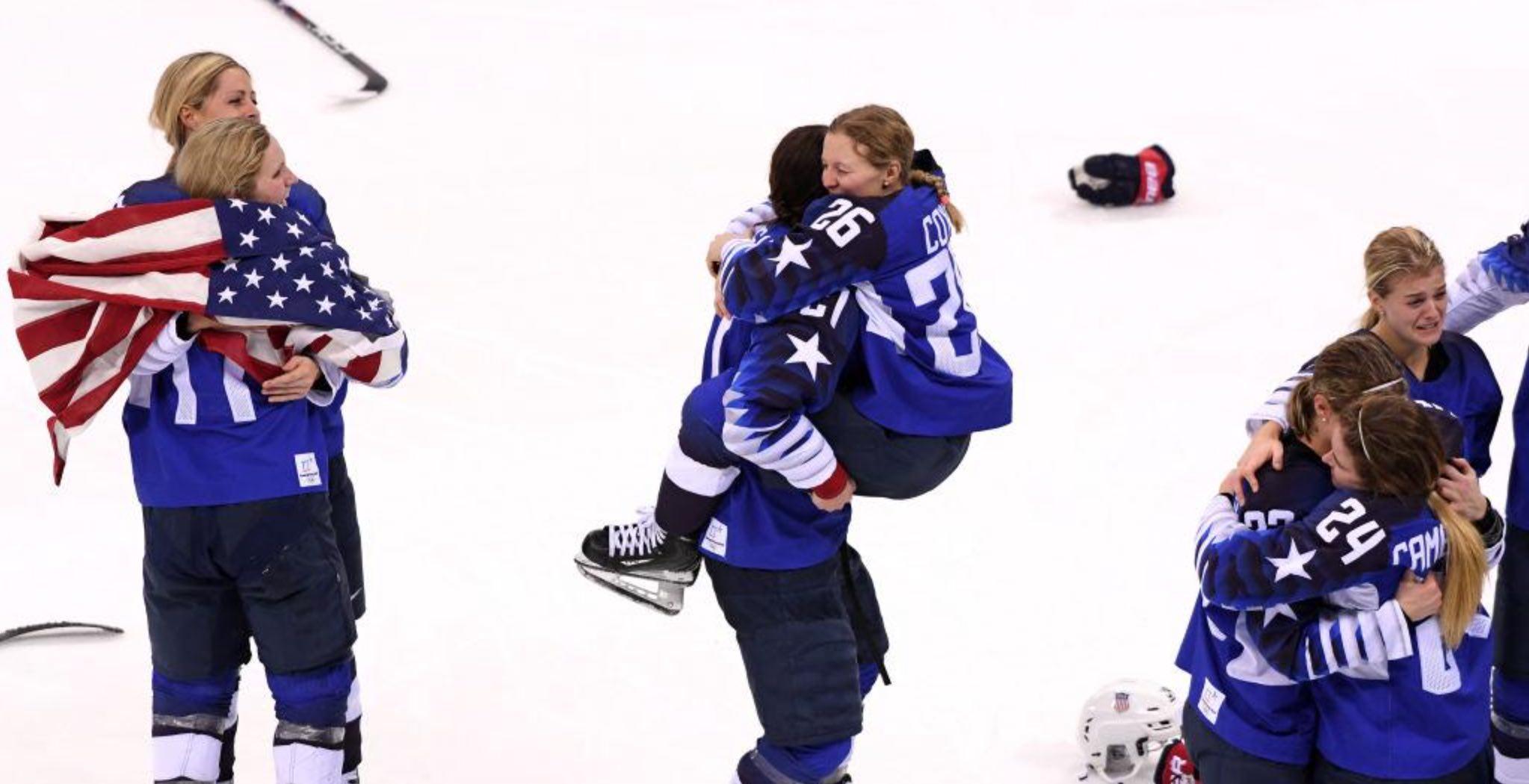 Team USA wins over team Canada
