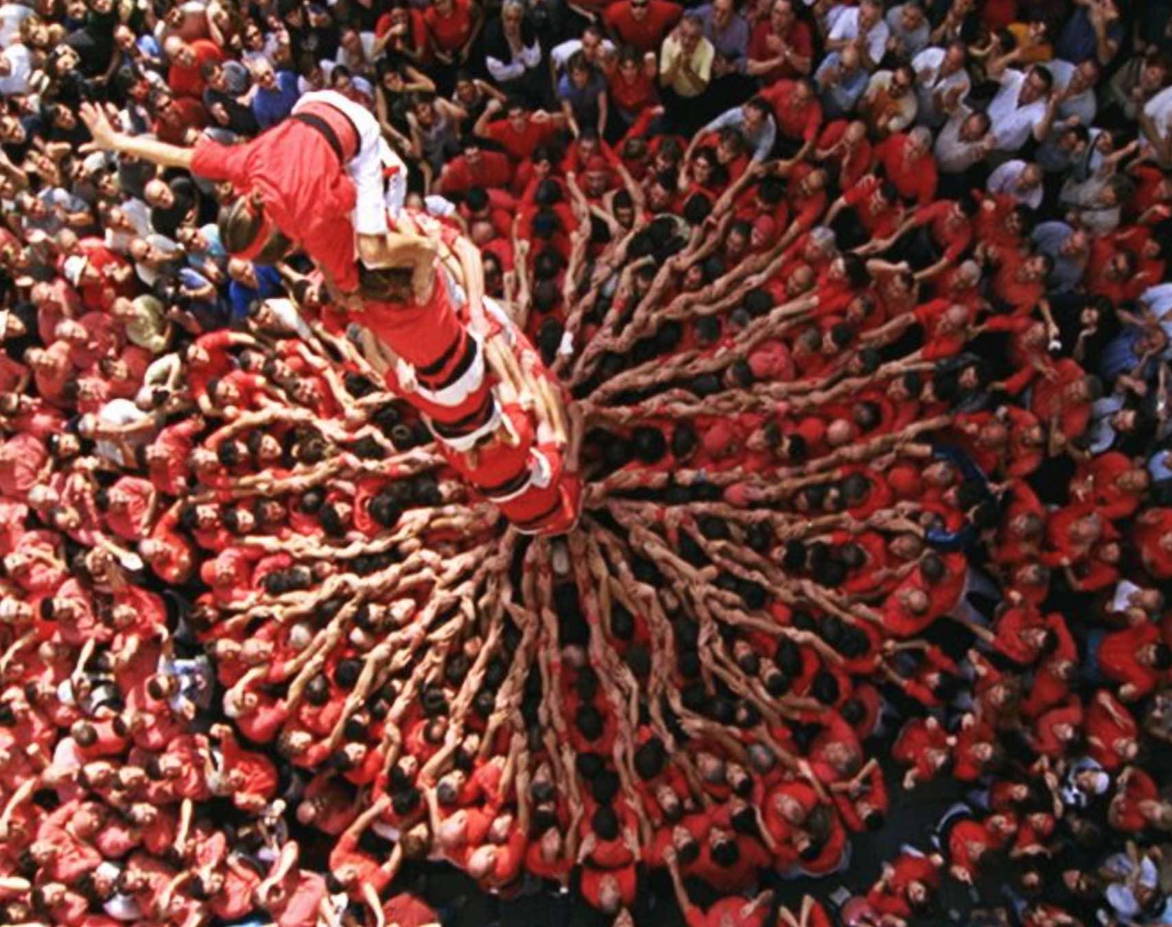 Catalonia One Strange Rock human tower